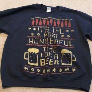 """""""Ugly"""" Christmas Hoodless sweatshirt - Male LG"""